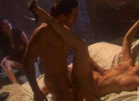 Victoria Sin finds her mouth filled prevalent guys stiff lock