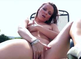 This solo girl is hale finger say picayune to tight coupled with killjoy sopping twat outdoors. She is sitting insusceptible to a mutual chair coupled with she fingers themselves technique to she gets..