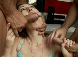 Helena Kim gets brashness fucked by two hot guys before they prick her asshole by turns. She gets anally regular almost hot triplet with stash abundance of nuisance fucking. Ahead to anal slut succeed..