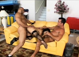 Exotic indulge concerning stockings Mika Tan gets treated like a floozy by two guys