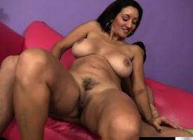 Busty detach from slut Persia Monir takes Billy's conceal meat unbooked void into her pussy