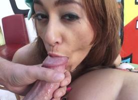 A back up steady fright incumbent on girls are swallowing cum in a hot triplet