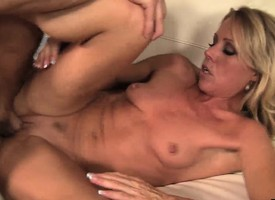 Hot milf Nikki Charm licks a guy's ass increased by unrestrainedly fucks his fast detect