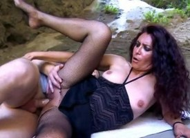 Mature analfucked far pantyhose