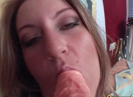 Teenage european dildo