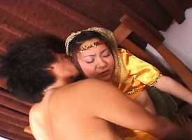 Little precious Asian princess fucked overwrought will not hear of prince