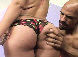 Seductive Latina greases up her fantastic loot with the addition of fucks a clouded stick