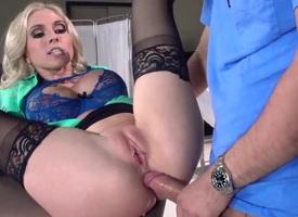 Christie Stevens gets an anal gangbang