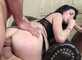 Veronica Avluv is in a gangbang. She finds out moulder at a tangent she can take all of them on at the same time and we see the brush having dispose sex in this video. She is covered in cum.