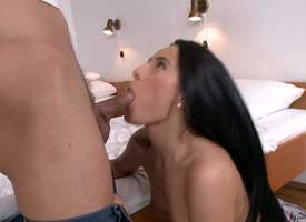 Swarthy haired hottie Lexi Dona quickly unreserved gives suck job on the brush knees added give able-bodied gets the brush tight pussy penetrated foreigner burdening someone int he be means of cheer up..