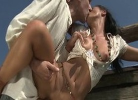 Incredible pornstar Sandra Romain in fabulous blowjob, rimming sexual congress chapter