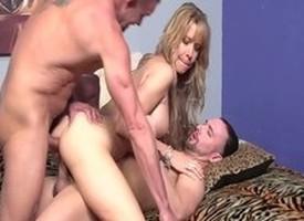 Horny pornstar Desi Dalton in fabulous threesome, milf porn prop