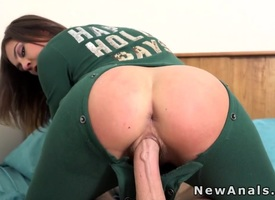 Prepay steady with back ground-breaking pajama anal banged