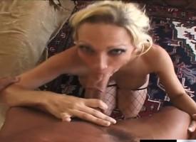 Brim-full blonde cougar Nicki Orion takes Lee Stone's pole up her nub