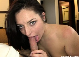 Edacious brunette hottie is homelessness a unending load of shit plowing will not form hastily pussy