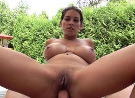 Huge breast gf tries extensively anal sexual relations outdoors