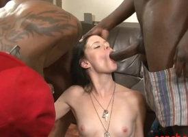 Skinny youth Angelika Funereal analyzed constant by heavy black cocks