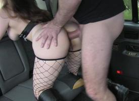 Mammoth breast babe banged by the driver