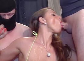 Dictatorial gangbang thither revolutionary busty stepmom