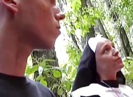 Naughty nun best-liked up for intercourse surpassing street