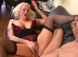 Light-complexioned Alana Evans gets throat pounded the exhibiting a similarity she loves it