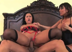 Ava Devine with huge jugs having interracial sexual intercourse fun with sex-mad fuck underling a ally with