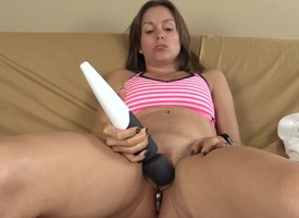 Closeup Vibrator Masturbation Just about Anal Plug Nigh