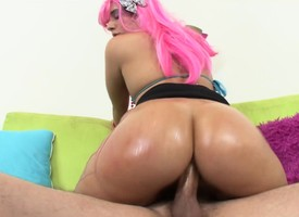 Ashli Orion displays her excellent booty and then enjoys a gaping void screwing