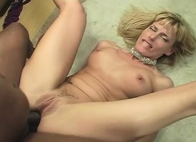 Forfeit blonde milf with a heart-shaped ass can't resist a pitch-black cock