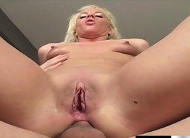 Sexy slim blonde Simone Schiffer feeds the branches embroidered rough anal sex