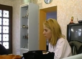 STP Sexy French Wife Fucks Her Husbands Patron !