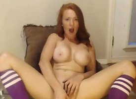 Busty Redhead Toying Unconforming Webcam Chat-more MAACAMS COM