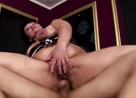 Mature asian gets her pussy drilled