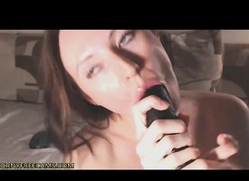 Squirty Russian Babe Fucks With Big Dildos