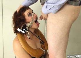 itchy BDSM toilet slut fucked anally constant