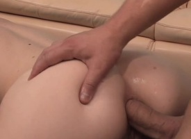Dude is having recreation caning hottie's lovely rosebutt