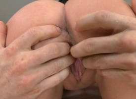 Sexy lady with muddy butt moans as A that spoil gets strongly fucked