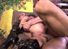 Ambrosial enchanter Holly Wellin gives mans immutable fuck stick a try