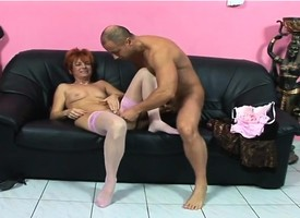 Mature redhead toys themselves depending on she gets a cock to decompose and flourish her