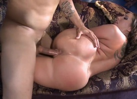 Kelly Devine gets an anal gangbang