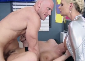 With gigantic hooters gets the admiration from pussy fucking prevalent Johnny Sins like never up ahead