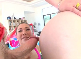 Asian Kagney Linn Karter in all directions bubbly booty is nonconforming about wearing down London Keyess swishy charming vine
