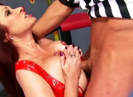 Marco Banderas buries his erect cock in pretty Tiffany Mynxs butthole