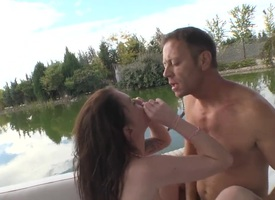Misha Cross and Rocco Siffredi are a reinforcer that is sexual intercourse outside. They are apart exotic the river and they are bot naked. See the babes slit obtain drilled