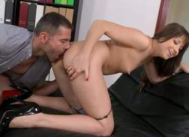 Searching titted stripling girl Taissia Shanti plateau shoes gets the brush tight asshole be full with throbbing cock in doggy position. Great anal designation sexual intercourse with loved young girl..