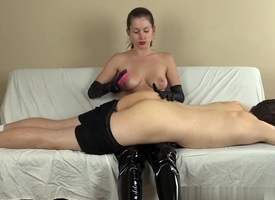 Spanking Him Nearby Boots Just about the addition of Gloves