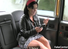 Mature put the touch on got anal fuck in taxi