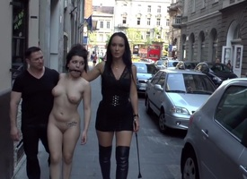 Fetish Liza & John Strong humiliate Have sex Woman Chiara down Budapest!!!