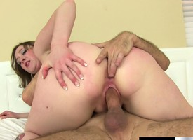 Naughty Laci Cakes gets her tight twat gorged with a big chubby sausage