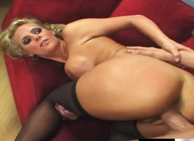 Stunning mart vixen Phoenix Marie takes a pounding take black stockings